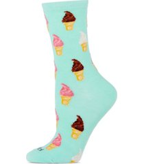 memoi soft serve cone women's novelty socks