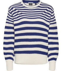 chunky knitted pullover in cotton blend stickad tröja blå scotch & soda