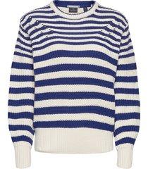 chunky knitted pullover in cotton blend stickad tröja blå scotch & soda