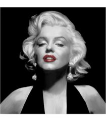 "chris consani halter top marilyn red lips canvas art - 15"" x 20"""