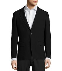 long-sleeve wool-blend jacket