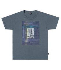 camiseta em meia malha penteada unlimited azul elian 18 azul