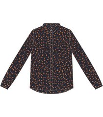 moss copenhagen milana morocco ls shirt aop rood