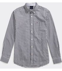 tommy hilfiger men's adaptive custom fit check shirt sky captain - xl