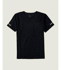 camiseta em malha dry com refletivos malwee liberta preto - g