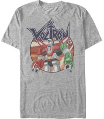voltron: defender of the universe men's robot logo short sleeve t-shirt