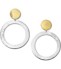 ippolita chimera classico hammered hoop drop earrings in silver/gold at nordstrom