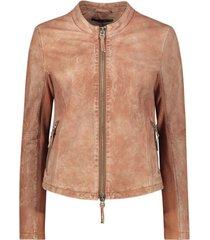 tan slim-fit jacket