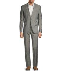 boss hugo boss men's classic-fit genius wool suit - grey - size 38 r