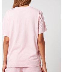 ganni women's thin software jersey t-shirt - sweet lilac - m