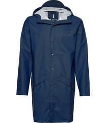 long jacket regenkleding blauw rains