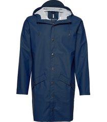 long jacket regenkleding blauw rains