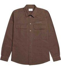 woodbird hoxen work shirt brown 2116-708