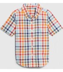 camisa manga corta multicolor gap