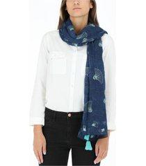 pañuelo abanicos azul humana