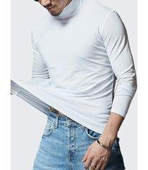 maglietta in cotone di base solida di colore solido del manicotto t-shirt casuale del tee traspirante di colore del basamento