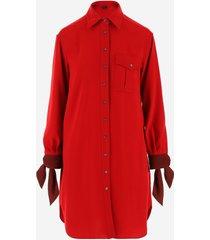 aspesi designer dresses & jumpsuits, red women's shirt dress