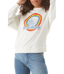 wrangler tie dye logo sweatshirt, size medium in worn white at nordstrom