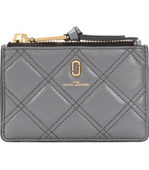marc jacobs quilted snapshot wallet - grey