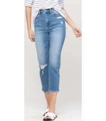 women's super high rise cropped slim straight jeans