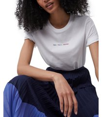 french connection cotton feel the sunshine embroidered t-shirt