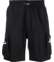 represent multi-pocket track shorts - black