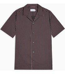 mens black and red revere stripe shirt