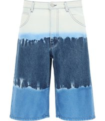 alberta ferretti tie-dye i love summer shorts