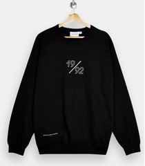 mens black 1992 print sweatshirt