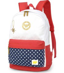 mochila juvenil mulher maravilha para notebook luxcel mj48792ww