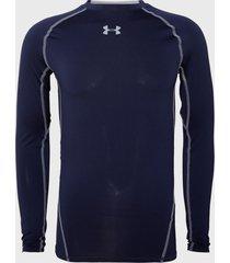 primera capa under armour ua hg armour ls azul - calce ajustado