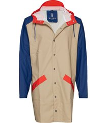 color block long jacket regenkleding multi/patroon rains
