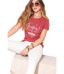 camiseta adulto femenino granate marketing personal
