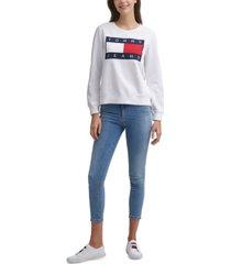 tommy jeans flag crew sweatshirt