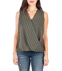 women's kut from the kloth calla sleeveless wrap front top