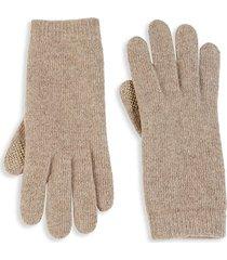knit cashmere tech gloves