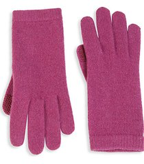 knit cashmere tech gloves