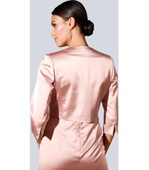 glansig kavaj alba moda rosa