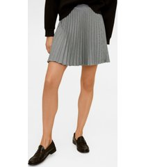 mango houndstooth pleated skirt