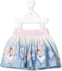 monnalisa ballerina graphic skirt - blue