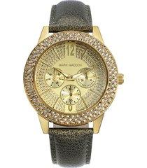 reloj  mujer mark maddox dorado