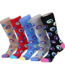 mio marino men's groovy designer dress socks pack of 5