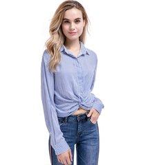 blusa rayas nudo azul nicopoly
