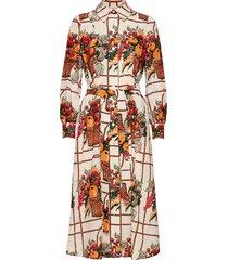 printed broderie anglaise artist's dress dresses shirt dresses multi/mönstrad tory burch