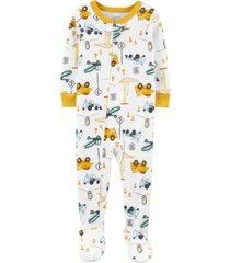 baby boy construction footie pajamas