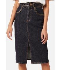 see by chloé women's denim skirt - black - eu 40/uk 12