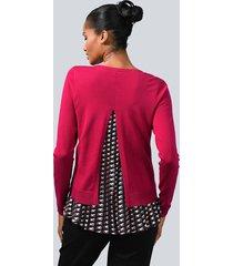 tröja med plisserad nederkant alba moda röd