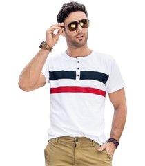 camiseta adulto masculino blanco marketing  personal