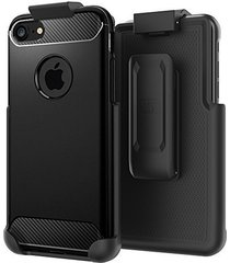"belt clip holster for spigen rugged armor case - iphone 7 (4.7"") [case is not in"