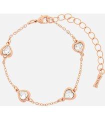 ted baker women's heniee crystal heart bracelet - rose gold